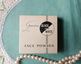 Pink Petal Color, Black and White Face Powder from the 20's, Never Opened 4 oz. Box