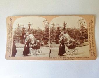 "Statue of ""Ole Bull"" Stereoscope Card 1903, Keystone View Co."