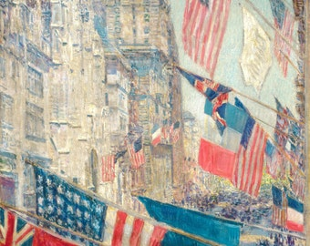 Childe Hassam Reproduction: Allies Day, May 1917 - Fine Art Print.
