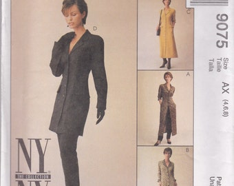 Button Front Jacket, Dress & Pants Pattern McCalls 9075 Sizes 4 6 8 Uncut