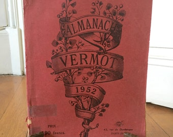 1952 yearbook. Vintage French 1952 Vermot almanac