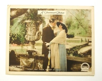 1918 Silent Film Poster Lobby Card PAULINE FREDERICK Tinted Silent Movie 11x14 Vintage Movie Poster
