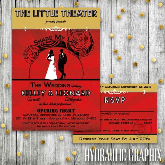 Theater Wedding Playbill Wedding Invitation African American