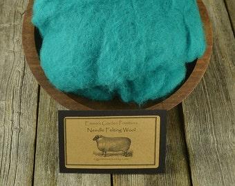 Needle Felting  Wool - Vintage Green - Wet Felting Wool