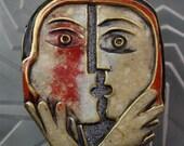 Designer Brooch Resin Cubist Picasso Inspiration
