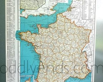 1939 France Atlas Map