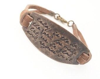 Scripture Bracelet Psalm 118:24 Bracelet Bible Verse Bracelet. Mother's Day bracelet