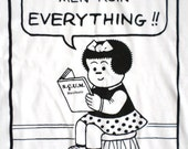 SCUM Nancy - Society to Cut Up Men - T-shirt inspired by Comic Book Nancy x Valerie Solanas