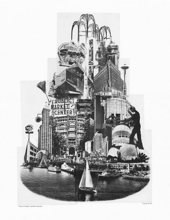 Tower of Seattle - Art Poster Print