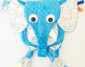 Elephant Baby Tag Lovey Blanket Pacifier Keepsake Toy