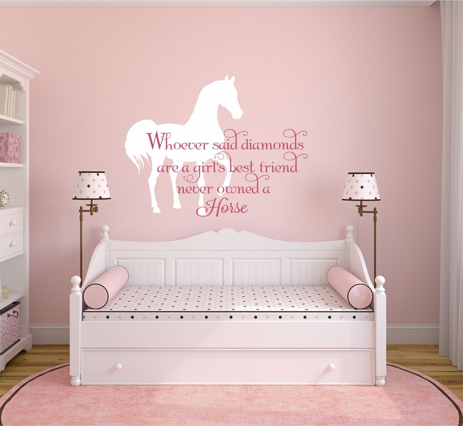 Horse wall decal horse decal horse decor equine decor for Horse bedroom decor
