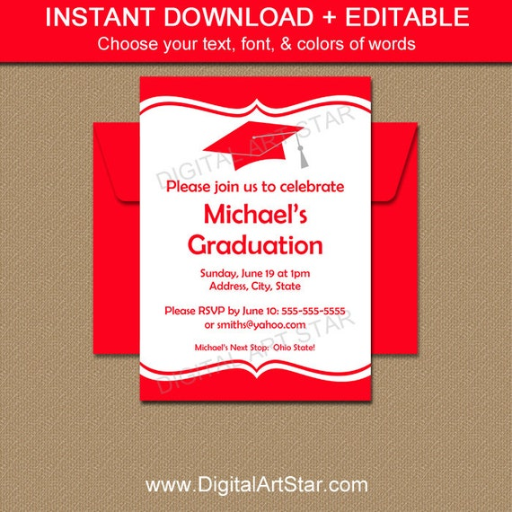 Etsy Graduation Invitations is an amazing ideas you had to choose for invitation design