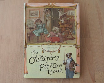 The Children's Picture Pop Up Book A Reproduction of a GORGEOUS Antique Book by Ernest Nister 1980 Anthropomorphic