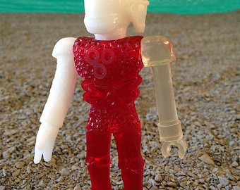 SEA-BORG MUTATION  Wave 2 Plastic Resin Figure - red/white/clear