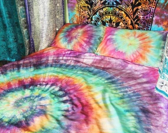 tie dye duvet set hippie bedding rainbow bedding egyptian cotton