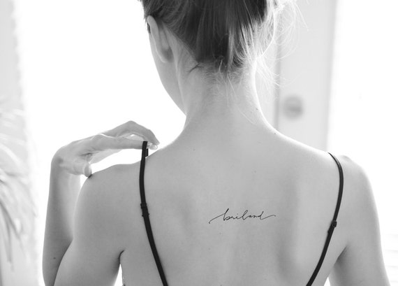 cursive script whimsical handwriting tattoo. Black Bedroom Furniture Sets. Home Design Ideas