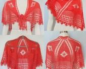 Pattern only - Mokara Cape Shawl pattern crochet pattern shawlette scarf