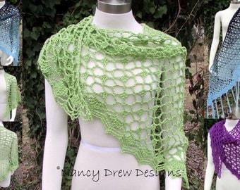 Pattern only -Fast Track Shawl pattern crochet lace pattern scarf shawlette