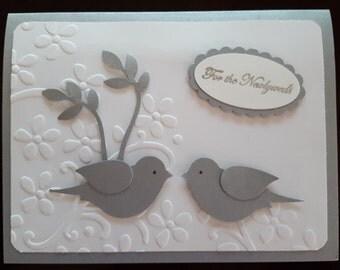 Two Love Birds Wedding Card #WAN 3