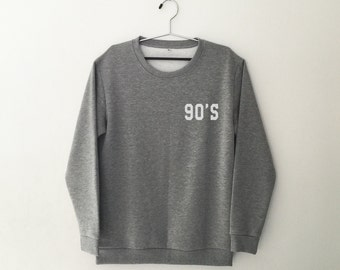 90s grunge clothing crewneck sweatshirt women sweaters jumper funny tshirt tumblr graphic tee shirts with saying gift women t-shirts