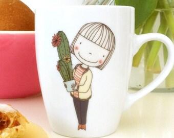 cactus girl Coffee / Tea  Mug