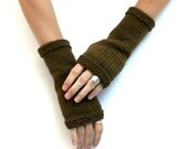 Custom for Lisa: Replacement Glove - Basic Cotton Mitts - Hand Knit Fingerless Gloves - Cotton Gloves - Knit Hand Warmers - Casual Gloves
