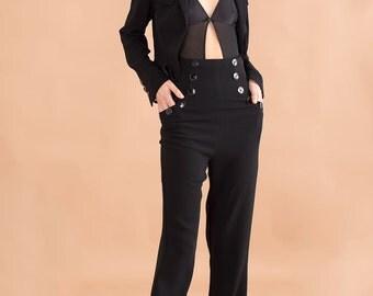 Tailored blazer & pants suit // 90s // S size