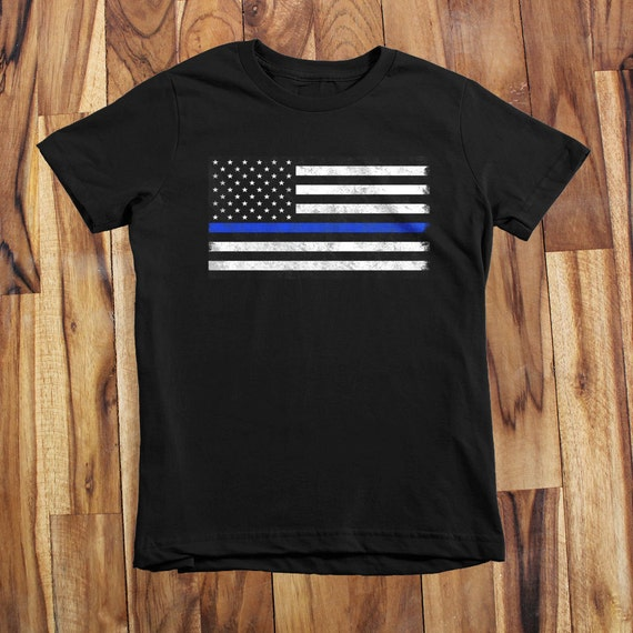 Thin blue line infant kids and youth t shirt by for Texas thin blue line shirt