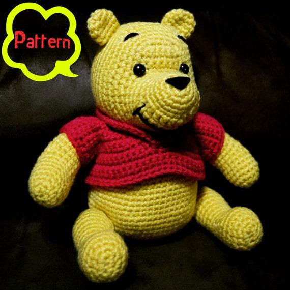 PATTERN: Crochet Winnie-the-Pooh Bear Amigurumi
