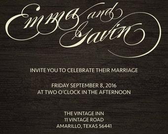 Wedding Invitation - Vintage 2