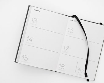 2016-2017 academic WEEKLY PLANNER small / minimalist hardcover planner