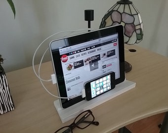Charging Station and stand for ipad, iphone, or tablet