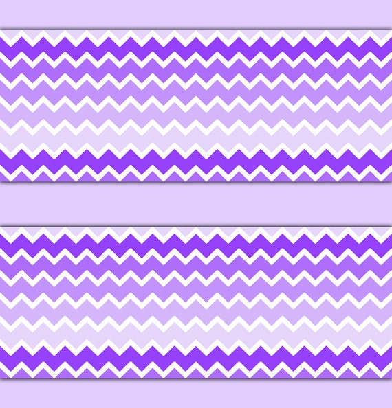 Purple Ombre Chevron Wallpaper Border Wall Decal Baby Girl