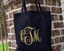Monogram Tote Bag Bridesmaid Gift Bag Wedding Party Favor Gift Bag Personalized Wedding Gift Bag Monogrammed Tote bag