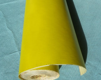 Vintage 1970s Contact Paper | Solid Yellow Paper | No Design | Shelf Liner | By-the-yard