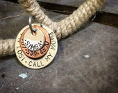 I'm Lost Call My Mom - Custom Pet Tag - Dog Tag - Stainless Steel - Copper - Made in the USA