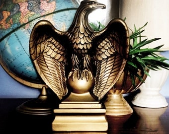 Mid Century Americana Eagle  Art Statue