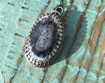 Dendrite opal necklace