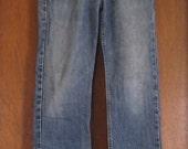 L Large Vintage 90s FULL CUT Slightly Faded High Rise Distressed GAP Bootcut Frayed Alternative Grunge Boyfriend Jeans Denim