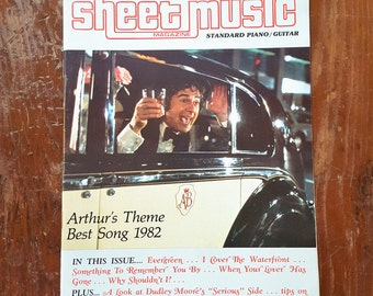 1983 Sheet Music Magazine Arthur's Theme Best Song 1982 T2
