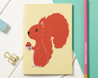 A6 Mr Nuts Red Squirrel Notebook - Notepad - Sketchpad