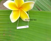 Hawaiian Islands Bar Necklace, Hawaii Necklace, stamped necklace, Hawaii stamped bar necklace, Aloha, Big island, Oahu, Maui, Kauai