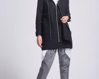 Irregular wool coat cashmere wool jacket wool jacket winter coat winter jacket winter dress wool jacket wool dress