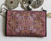 Purple Purse Wallet, Handmade Womens Wallet, Mini Travel Wallet, Jewelry Purse Wallet, Moneybag, Mini Cosmetic Bag, Boho Coin Purse