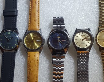 FANTASTIC SPECIAL 7 Pre0wned Seiko-Orient-Hmt- Timestar Hand-Wind + Automatic and Quartz Vintage Men's Watches