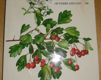Vintage Horticulture Book - Trees of Parks and Gardens, J. Pokorny, Illustrated by V. Choc, 56 Colour Plates, Spring Books 1967 Reprint 1969