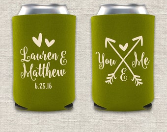 You & Me - Arrow Wedding Can Cooler
