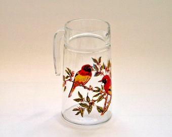 Beautiful Vintage Glass Bird Jug Pitcher