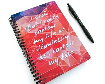 2016 2017 Planner - Contour My Life - Daily Weekly Monthly - Makeup Student Agenda College Geometric Galaxy Motivational Quote