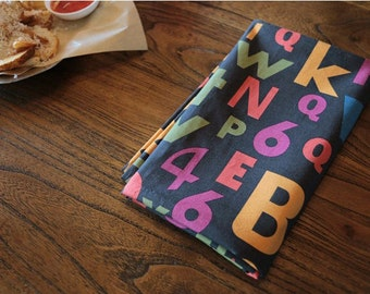 Alphabets and Numbers Cotton Fabric - By the Yard 90863